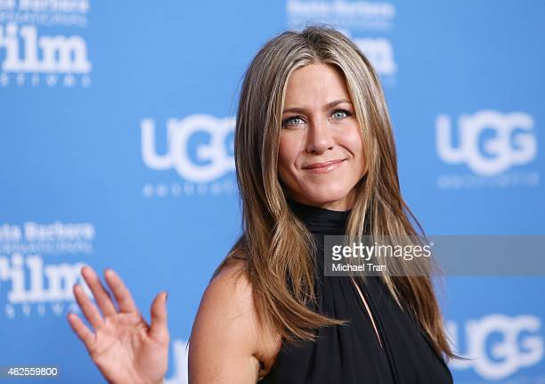 Jennifer Aniston arrives at the 30th Santa Barbara International Film Festival Montecito Award held at Arlington Theatre on January 30 2015 in Santa...