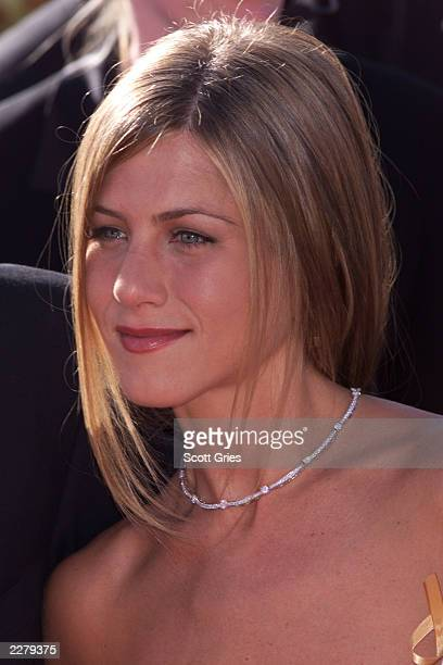 Jennifer Aniston arrives at the 52nd Annual Primetime Emmy Awards at the Shrine Auditorium in Los Angeles on Sunday September 10 2000 Photo credit...