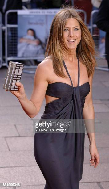 Jennifer Aniston arrives at the UK film premiere of The Break Up at the Vue West End cinema central London