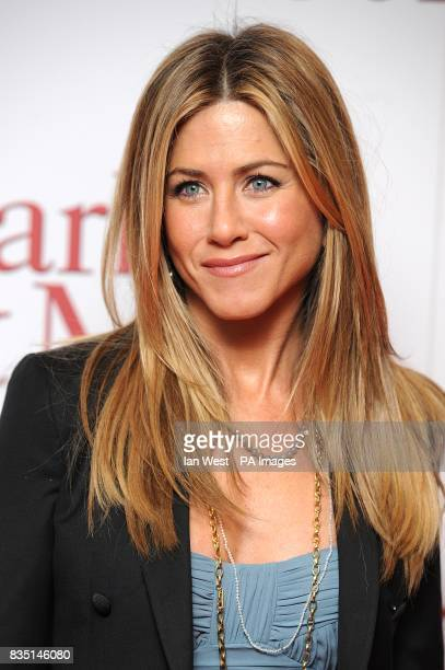 Jennifer Aniston arriving for the premiere of Marley And Me at the Vue Leicester Square London