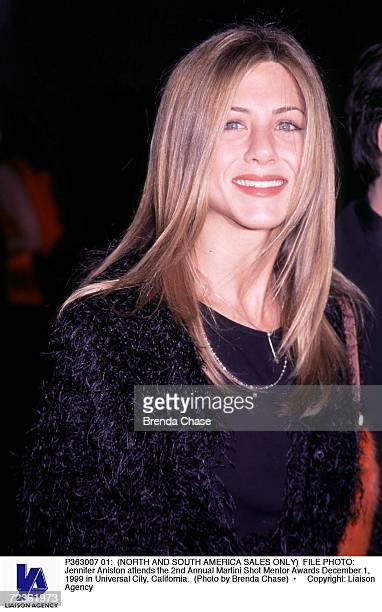 FILE PHOTO Jennifer Aniston attends the 2nd Annual Martini Shot Mentor Awards December 1 1999 in Universal City California