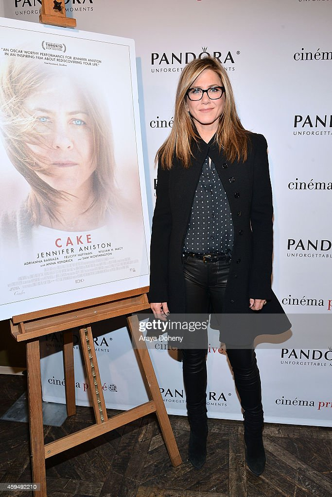 <a gi-track='captionPersonalityLinkClicked' href=/galleries/search?phrase=Jennifer+Aniston&family=editorial&specificpeople=202048 ng-click='$event.stopPropagation()'>Jennifer Aniston</a> attends the cinema prive And PANDORA Jewelry Host A Special Screening Of 'Cake' on November 23, 2014 in West Hollywood, California.
