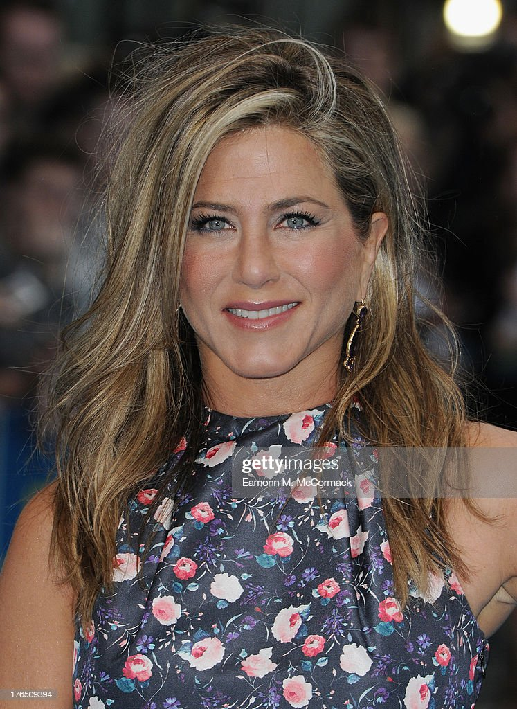 <a gi-track='captionPersonalityLinkClicked' href=/galleries/search?phrase=Jennifer+Aniston&family=editorial&specificpeople=202048 ng-click='$event.stopPropagation()'>Jennifer Aniston</a> attends the European premiere of 'We're The Millers' at Odeon West End on August 14, 2013 in London, England.