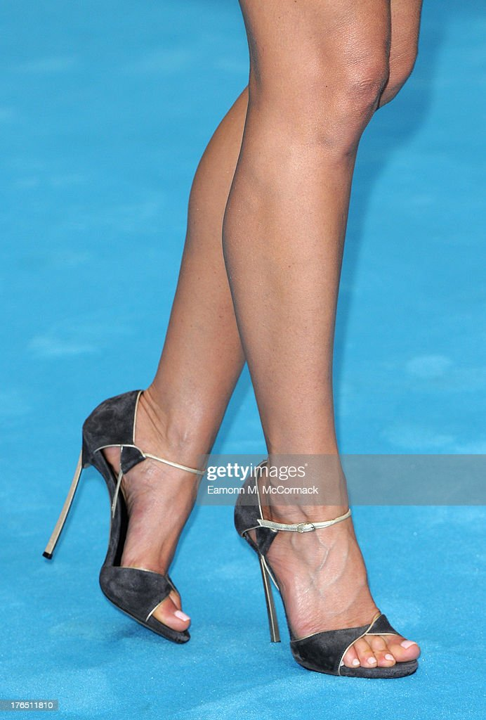 Jennifer Aniston (shoe detail) attends the European premiere of 'We're The Millers' at Odeon West End on August 14, 2013 in London, England.>>