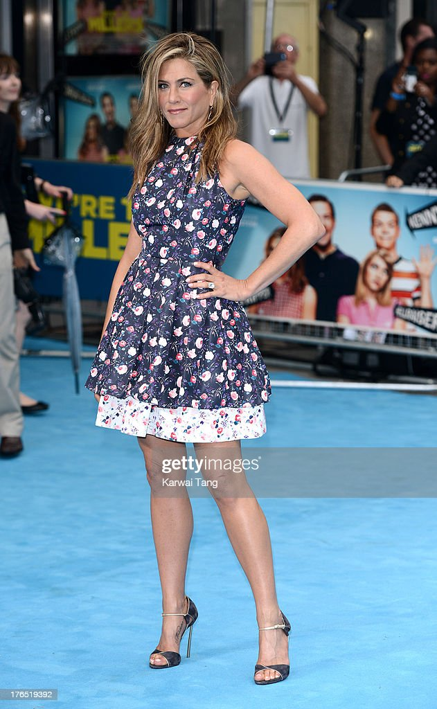 Jennifer Aniston attends the European premiere of 'We're The Millers' at the Odeon West End on August 14, 2013 in London, England.
