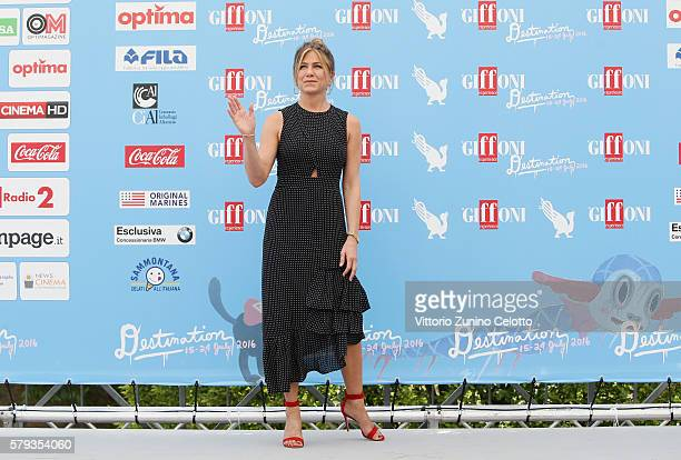 Jennifer Aniston attends the Giffoni Film Festival Day 9 photocall on July 23 2016 in Giffoni Valle Piana Italy
