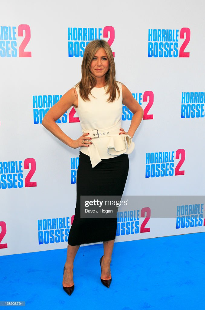 <a gi-track='captionPersonalityLinkClicked' href=/galleries/search?phrase=Jennifer+Aniston&family=editorial&specificpeople=202048 ng-click='$event.stopPropagation()'>Jennifer Aniston</a> attends the 'Horrible Bosses 2' photocall at Corinthia Hotel London on November 13, 2014 in London, England.
