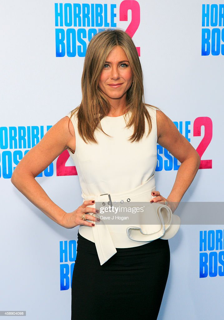 Jennifer Aniston attends the 'Horrible Bosses 2' photocall at Corinthia Hotel London on November 13 2014 in London England