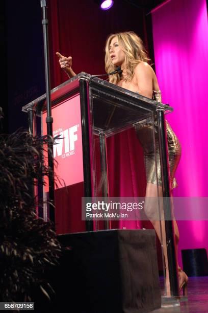 Jennifer Aniston attends Women In Film Crystal Lucy Awards presented by MaxMara Inside at Hyatt Regency Century Plaza on June 12 2009 in Los Angeles...