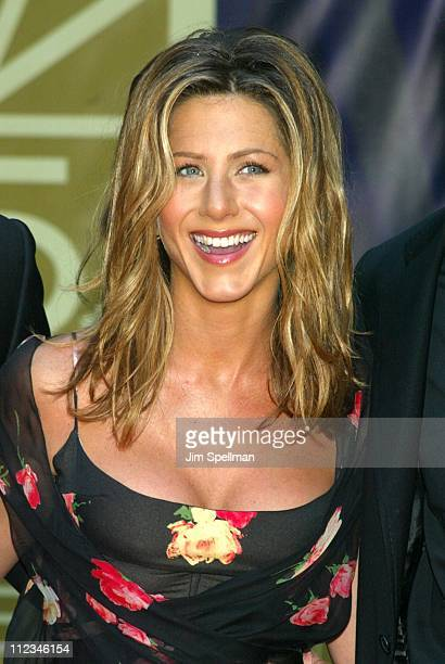 Jennifer Aniston during NBC 75th Anniversary at Rockefeller Plaza in New York City New York United States