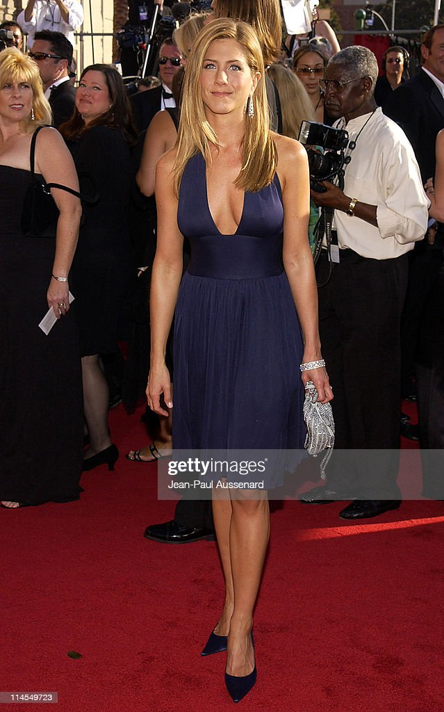 Jennifer Aniston during The 55th Annual Primetime Emmy Awards - Arrivals at The Shrine Theater in Los Angeles, California, United States.