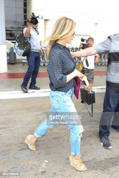 Jennifer Aniston is seen at LAX on June 23 2017 in Los Angeles California