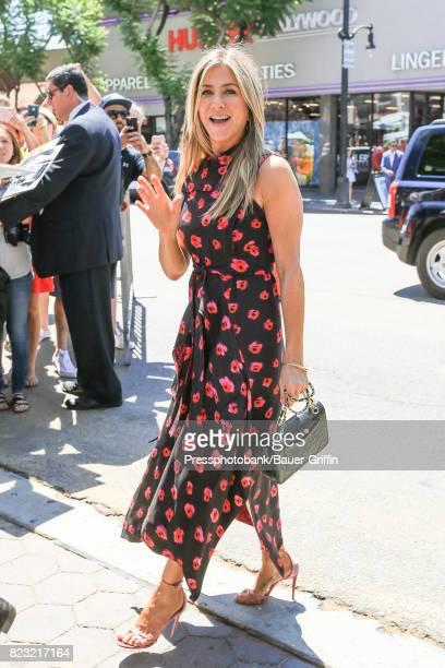 Jennifer Aniston is seen on July 26 2017 in Los Angeles California