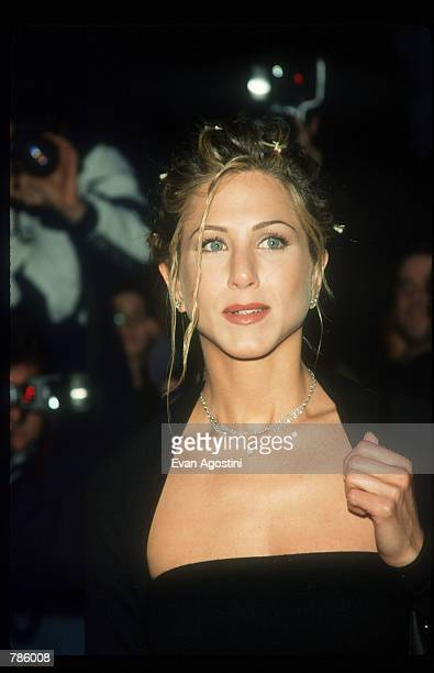 Jennifer Aniston poses April 15 1998 in New York City Actress Aniston attends the premiere of the film 'The Object Of My Affection'