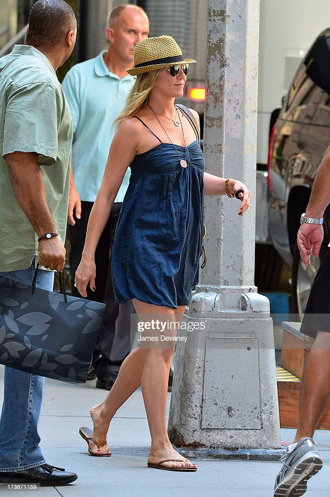 <a gi-track='captionPersonalityLinkClicked' href=/galleries/search?phrase=Jennifer+Aniston&family=editorial&specificpeople=202048 ng-click='$event.stopPropagation()'>Jennifer Aniston</a> seen on the set of 'Squirrels to the Nuts' on July 16, 2013 in New York City.