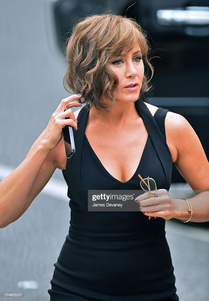 <a gi-track='captionPersonalityLinkClicked' href=/galleries/search?phrase=Jennifer+Aniston&family=editorial&specificpeople=202048 ng-click='$event.stopPropagation()'>Jennifer Aniston</a> seen on the set of 'Squirrels to the Nuts' on July 23, 2013 in New York City.