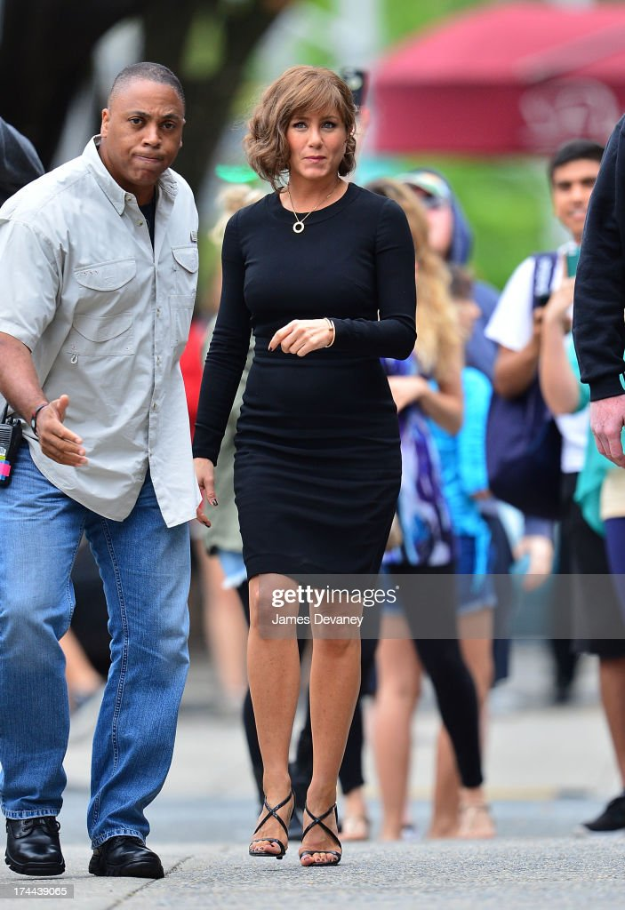 Jennifer Aniston seen on the set of 'Squirrels to the Nuts' on July 25, 2013 in Astoria, Queens.