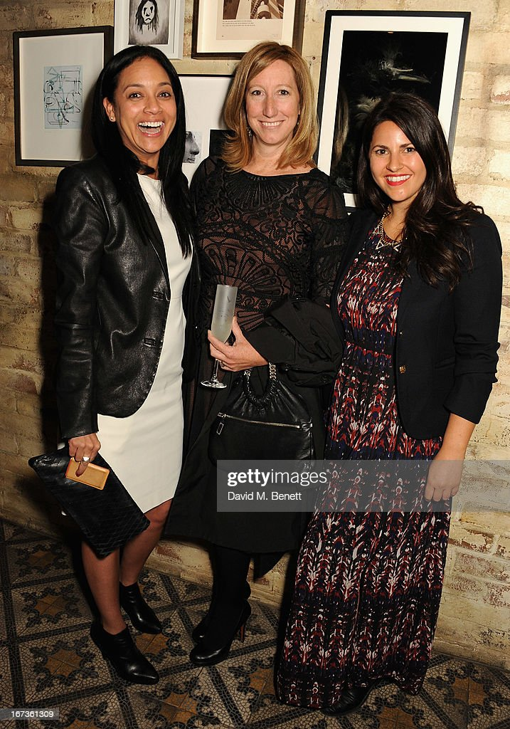 Jennifer Areeneaux, Keri Putnam and Ashley Lent attend Grey Goose hosted Sundance London Filmmaker Dinner at Little House on April 24, 2013 in London, England.