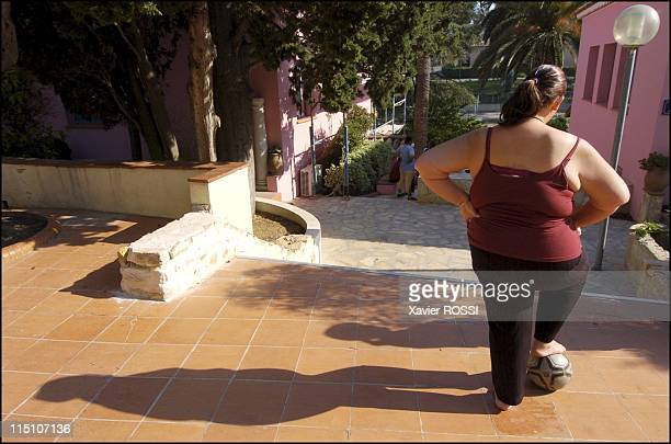 Obese teenagers get a second chance in Sanary Sur Mer France in May 2004 May 2004 Jennifer at the children's nutritional medical center Les Oiseaux...