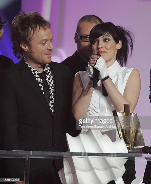 Jennifer Ayache of Superbus and guests during 2007 Victoires de la Musique Show at Zenith de Paris in Paris France