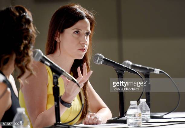 Jennifer Bartels at 'Sex Presidents Handmaids Hosted by Lady Freak' panel during Politicon at Pasadena Convention Center on July 29 2017 in Pasadena...