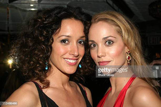 Jennifer Beals and Elizabeth Berkley during Opening Night of 'Sly Fox' On Broadway at Ethel Barrymore Theatre in New York NY United States