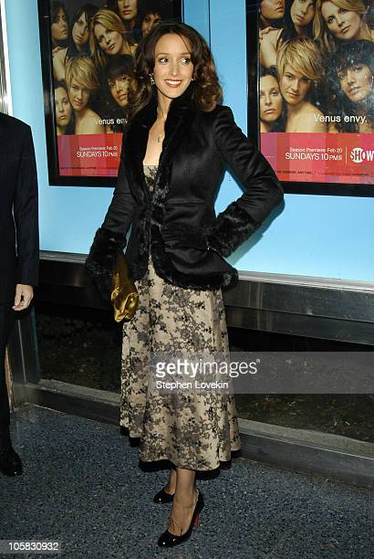 Jennifer Beals during Showtime Presents the Second Season Premiere of 'The L Word' at Chelsea Clearview West Cinemas in New York City New York United...
