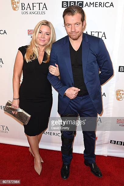 Jennifer Beesley and Max Beesley attend the BBC America BAFTA Los Angeles TV Tea Party at Boxwood Restaurant at The London West Hollywood on...