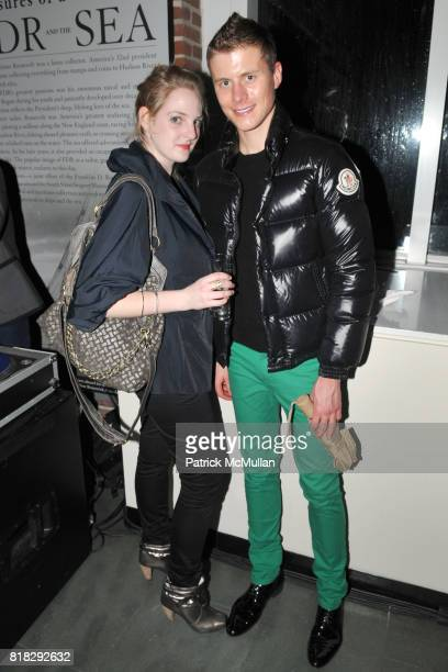 Jennifer Berger and Carter Cramer attend APRIVATECLUBCOM Hosts 'DECODENCE' Sponsored by LALIQUE at South Street Seaport Museum on February 23 2010 in...
