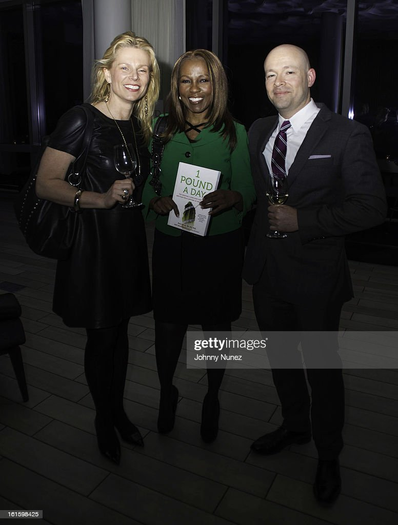 Jennifer Bergstrom, Roni DeLuz, and Jeremie Ruby-Strauss attend the '1 Pound A Day: Martha's Vineyard Diet Detox' Pre-Launch Book Party at Trump SoHo on February 11, 2013 in New York City.