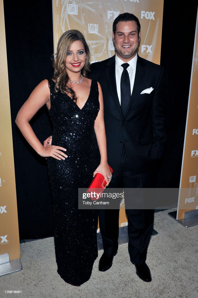 Jennifer Bronstein and Max Adler arrive for the Fox Broadcasting Company, Twentieth Century Fox Television And FX 2011 Emmy after party on September 18, 2011 in West Hollywood, California.