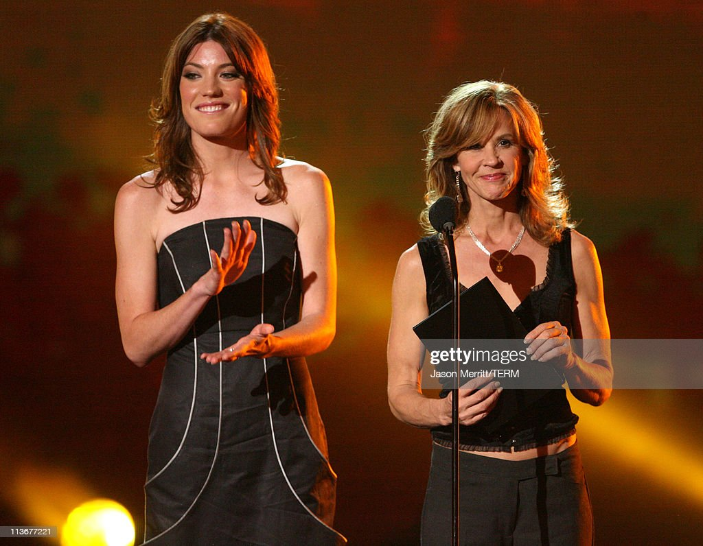 Jennifer Carpenter and Linda Blair during Spike TV's 'Scream Awards 2006' Show at Pantages Theater in Hollywood California United States