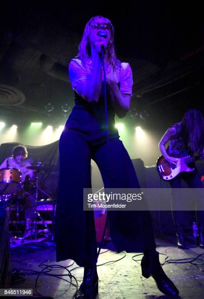 Jennifer Clavin of Bleached performs at Ace of Spades on September 12 2017 in Sacramento California