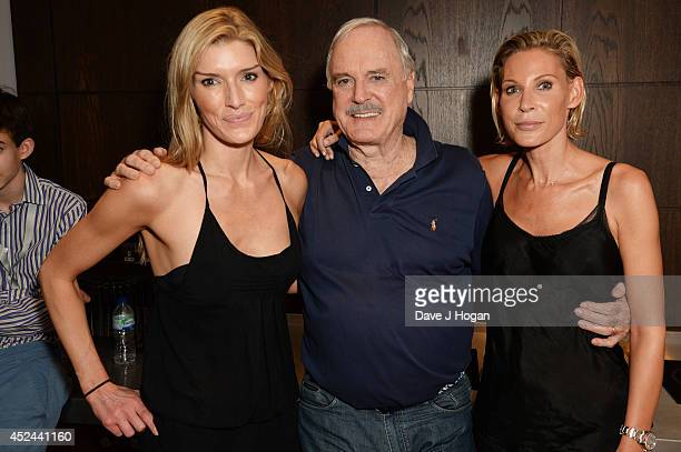 Jennifer Cleese John Cleese and Camilla Cleese attend the closing night after party for 'Monty Python Live ' at The O2 Arena on July 20 2014 in...