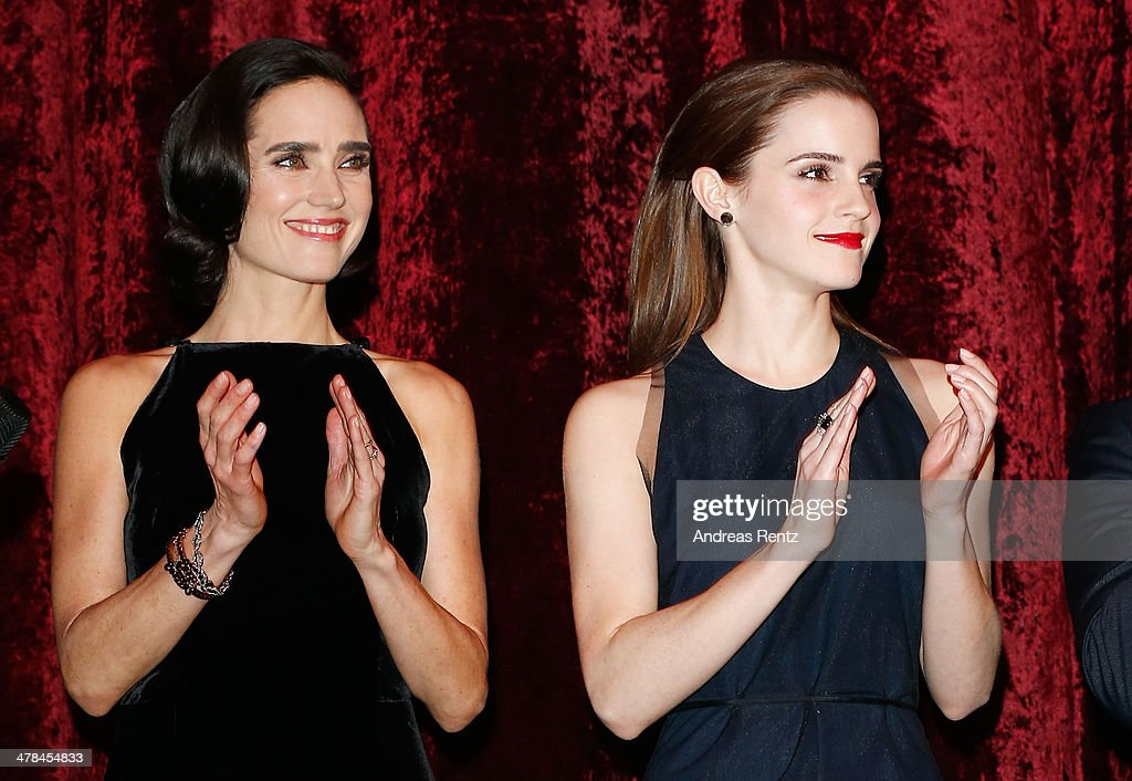 Jennifer Connelly and Emma Watson attend the premiere of Paramount Pictures' 'NOAH' at Zoo Palast on March 13, 2014 in Berlin, Germany.