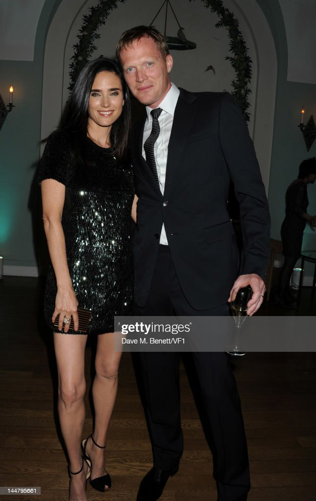 <a gi-track='captionPersonalityLinkClicked' href=/galleries/search?phrase=Jennifer+Connelly&family=editorial&specificpeople=201581 ng-click='$event.stopPropagation()'>Jennifer Connelly</a> and husband actor <a gi-track='captionPersonalityLinkClicked' href=/galleries/search?phrase=Paul+Bettany&family=editorial&specificpeople=202591 ng-click='$event.stopPropagation()'>Paul Bettany</a> attend the Vanity Fair And Gucci Party during the 65th Annual Cannes Film Festival at Hotel Du Cap on May 19, 2012 in Antibes, France.
