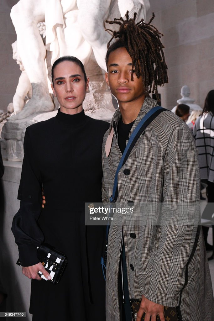 Jennifer Connelly and Jaden Smith attend the Louis Vuitton show as part of the Paris Fashion Week Womenswear Fall/Winter 2017/2018 on March 7, 2017 in Paris, France.