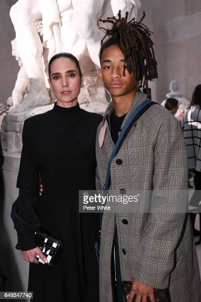 Jennifer Connelly and Jaden Smith attend the Louis Vuitton show as part of the Paris Fashion Week Womenswear Fall/Winter 2017/2018 on March 7 2017 in...