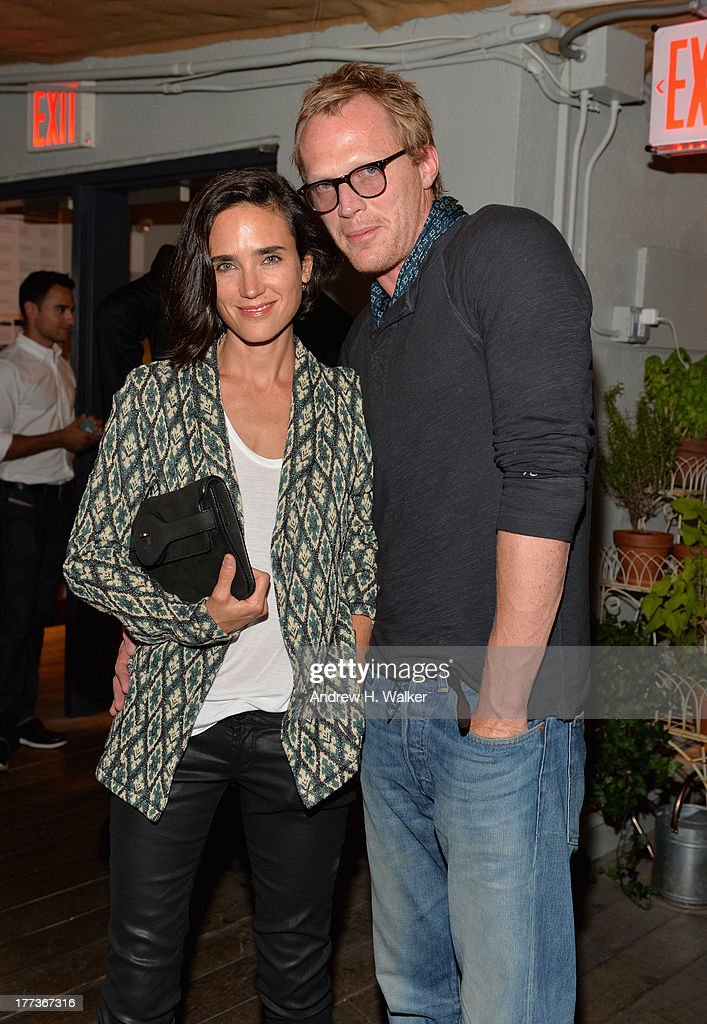 <a gi-track='captionPersonalityLinkClicked' href=/galleries/search?phrase=Jennifer+Connelly&family=editorial&specificpeople=201581 ng-click='$event.stopPropagation()'>Jennifer Connelly</a> (L) and <a gi-track='captionPersonalityLinkClicked' href=/galleries/search?phrase=Paul+Bettany&family=editorial&specificpeople=202591 ng-click='$event.stopPropagation()'>Paul Bettany</a> attend Soho House New York's 10th birthday celebration with a live performance by Mumford and Sons on the roof top at Soho House on August 22, 2013 in New York City.