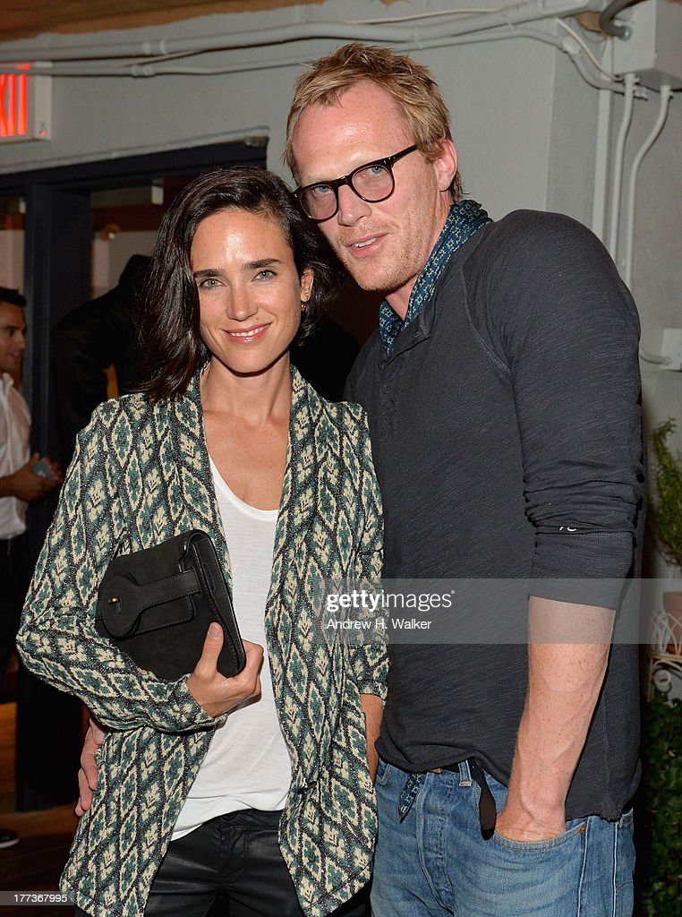 Jennifer Connelly (L) and Paul Bettany attend Soho House New York's 10th birthday celebration with a live performance by Mumford and Sons on the roof top at Soho House on August 22, 2013 in New York City.