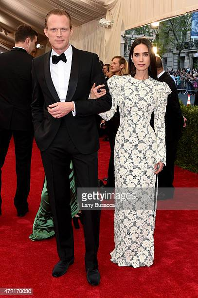 Jennifer Connelly and Paul Bettany attend the 'China Through The Looking Glass' Costume Institute Benefit Gala at the Metropolitan Museum of Art on...