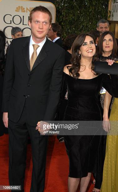 Jennifer Connelly and Paul Bettany during The 60th Annual Golden Globe Awards Arrivals at Beverly Hilton Hotel in Beverly Hills CA United States