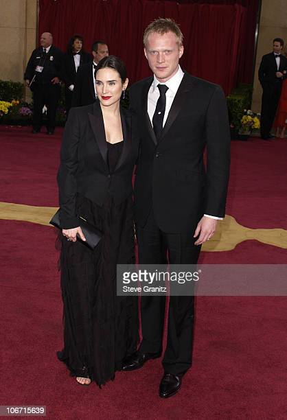 Jennifer Connelly and Paul Bettany during The 75th Annual Academy Awards Arrivals at The Kodak Theater in Hollywood California United States