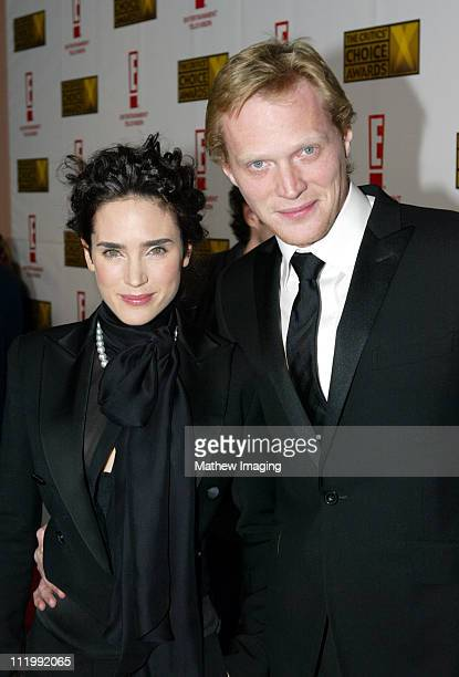 Jennifer Connelly and Paul Bettany during The 9th Annual Critics' Choice Awards Red Carpet at The Beverly Hills Hotel in Beverly Hills California...
