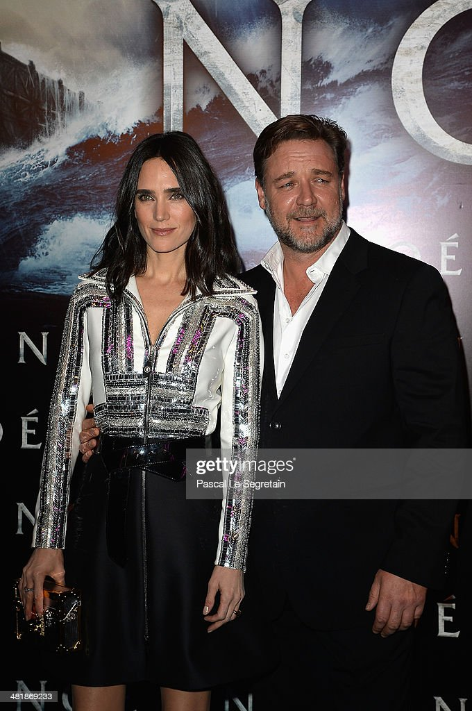 <a gi-track='captionPersonalityLinkClicked' href=/galleries/search?phrase=Jennifer+Connelly&family=editorial&specificpeople=201581 ng-click='$event.stopPropagation()'>Jennifer Connelly</a> and <a gi-track='captionPersonalityLinkClicked' href=/galleries/search?phrase=Russell+Crowe&family=editorial&specificpeople=202609 ng-click='$event.stopPropagation()'>Russell Crowe</a> attend the Paris Premiere of 'NOAH' at Cinema Gaumont Marignan on April 1, 2014 in Paris, France.