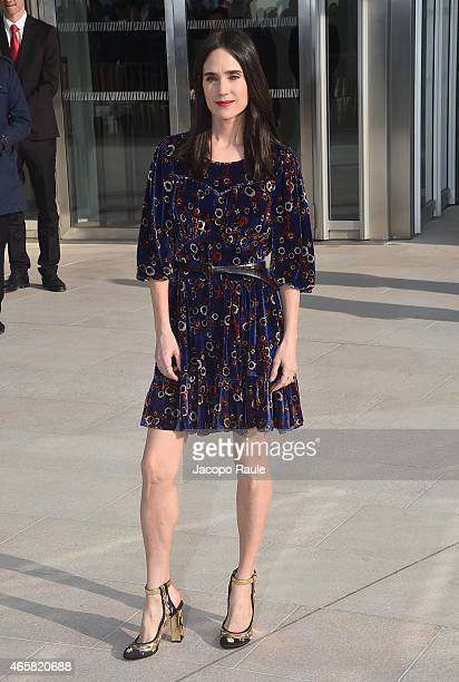 Jennifer Connelly arrives at the Louis Vuitton show as part of Paris Fashion Week Fall Winter 2015/2016 on March 11 2015 in Paris France