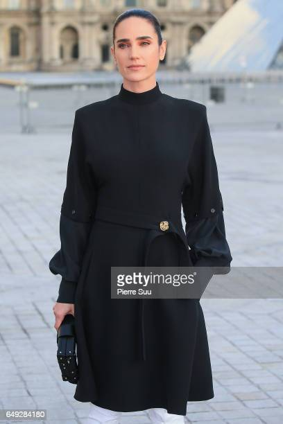 Jennifer Connelly arrives at the Louis Vuitton show as part of the Paris Fashion Week Womenswear Fall/Winter 2017/2018 on March 7 2017 in Paris France