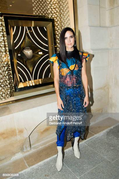 Jennifer Connelly attends the Opening Of The Louis Vuitton Boutique as part of the Paris Fashion Week Womenswear Spring/Summer 2018 on October 2 2017...