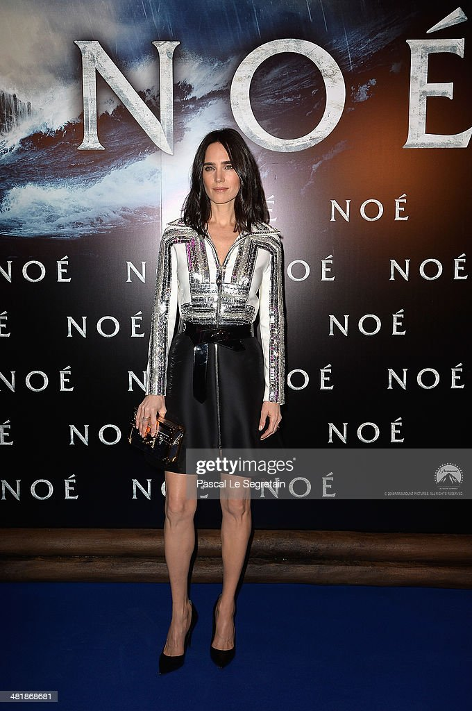 <a gi-track='captionPersonalityLinkClicked' href=/galleries/search?phrase=Jennifer+Connelly&family=editorial&specificpeople=201581 ng-click='$event.stopPropagation()'>Jennifer Connelly</a> attends the Paris Premiere of 'NOAH' at Cinema Gaumont Marignan on April 1, 2014 in Paris, France.