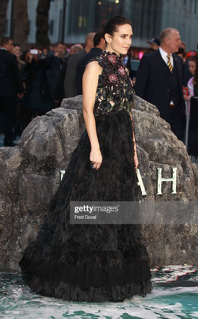 <a gi-track='captionPersonalityLinkClicked' href=/galleries/search?phrase=Jennifer+Connelly&family=editorial&specificpeople=201581 ng-click='$event.stopPropagation()'>Jennifer Connelly</a> attends the UK film premiere of 'Noah' at Odeon Leicester Square on March 31, 2014 in London, England.